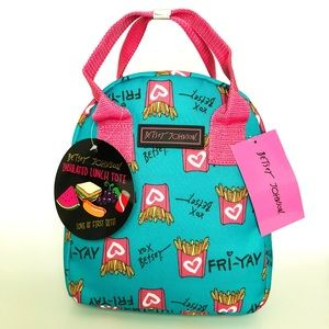Betsey Johnson Fri-Yay insulated lunch tote bag
